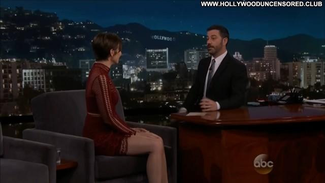 Lauren Cohan Jimmy Kimmel Live Sexy Celebrity Pretty Nice Brunette