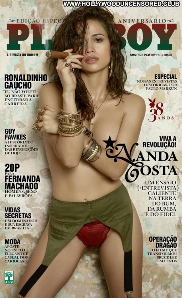Nanda Costa Playboy Brasil Gorgeous Posing Hot Brunette Playmate