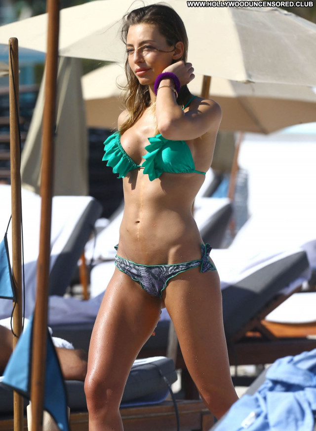 Alessia Tedeschi The Beach Posing Hot Beach Italian Celebrity Model