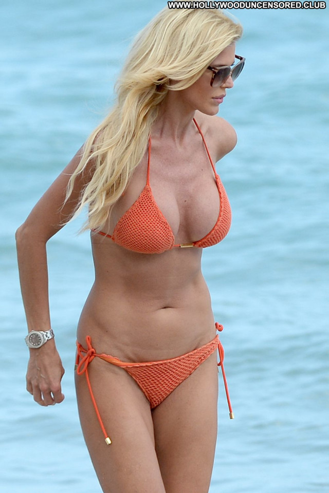 Victoria Silvstedt No Source Beach Bikini Babe Orange Celebrity