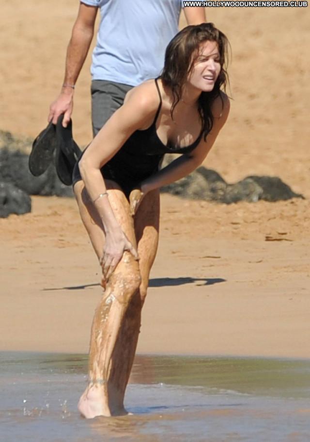 Stephanie Seymour The Beach Babe Beach Beautiful Bikini Posing Hot
