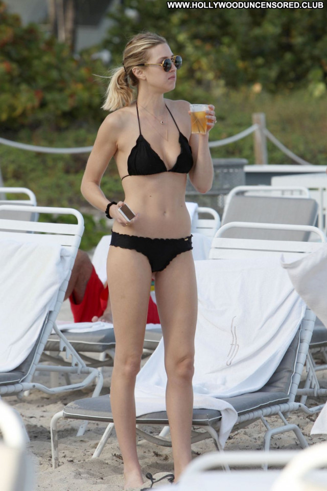 Whitney Port The Beach Posing Hot Celebrity Black Bikini Beach Babe
