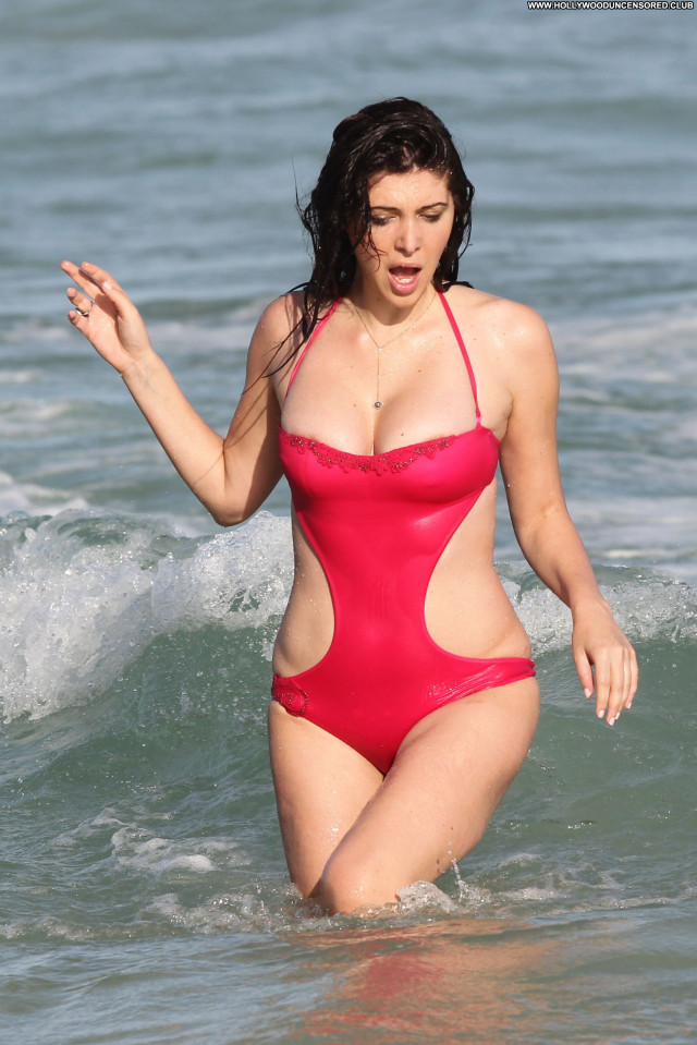 Brittny Gastineau No Source Celebrity Babe American Swimsuit Beach