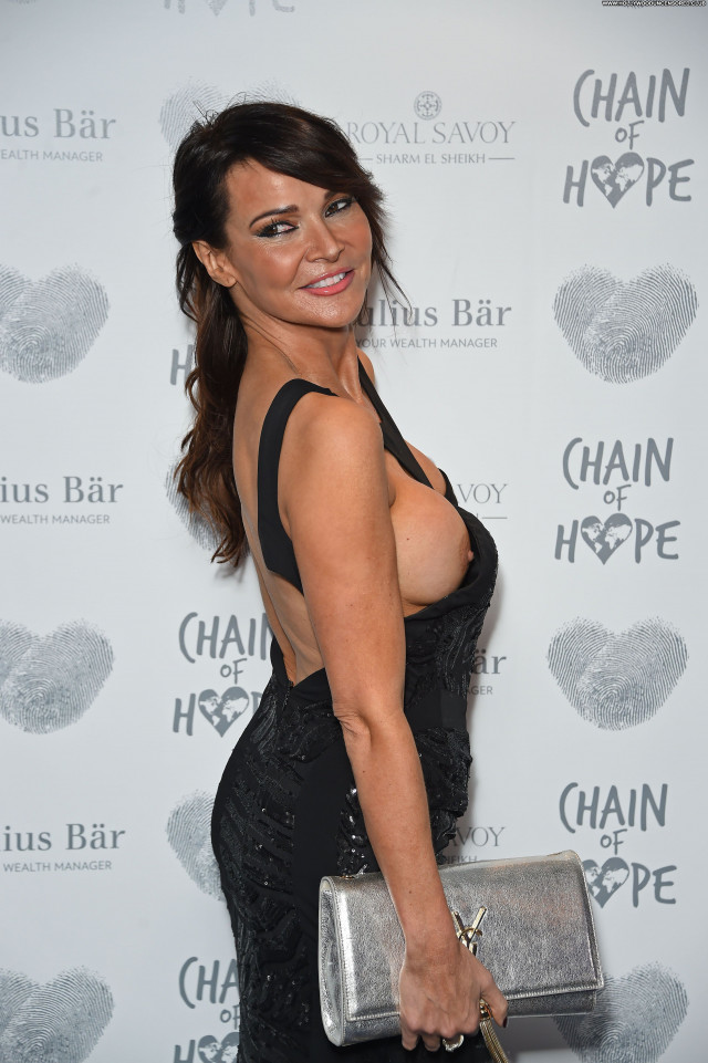 Lizzie Cundy No Source Posing Hot Boob Slip Sexy Fashion Beautiful