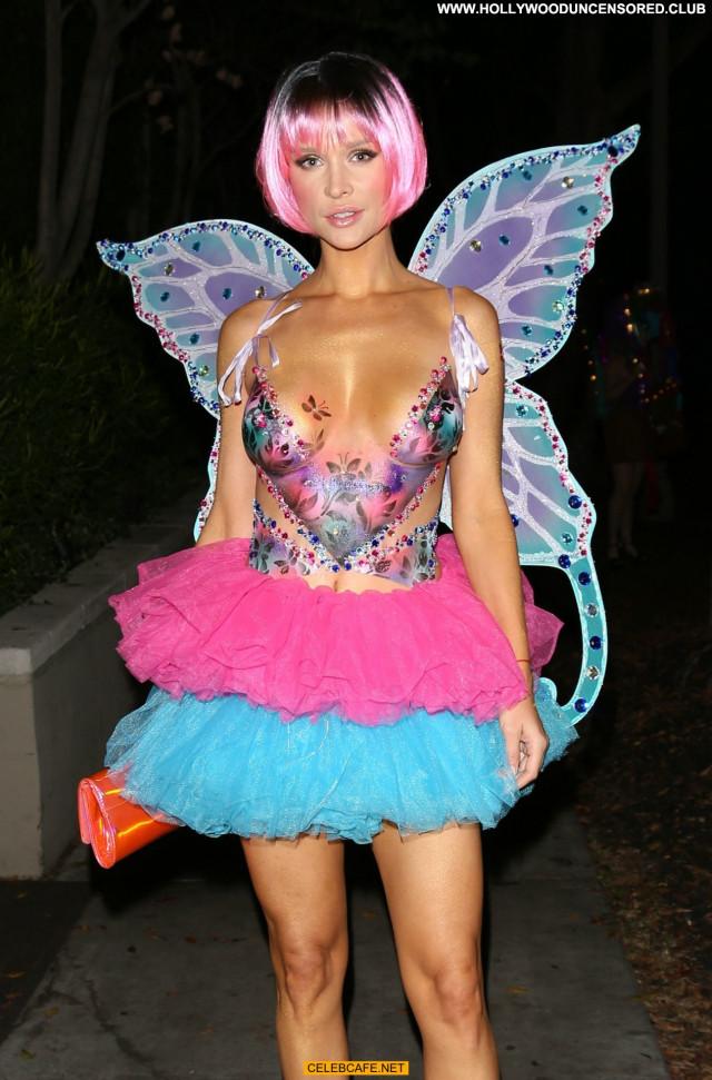 Joanna Krupa Halloween Party  Beautiful Babe Body Paint Topless