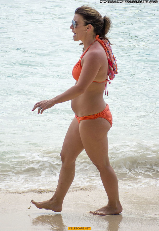 Coleen Rooney No Source Beautiful Orange Bikini Bar Babe Beach