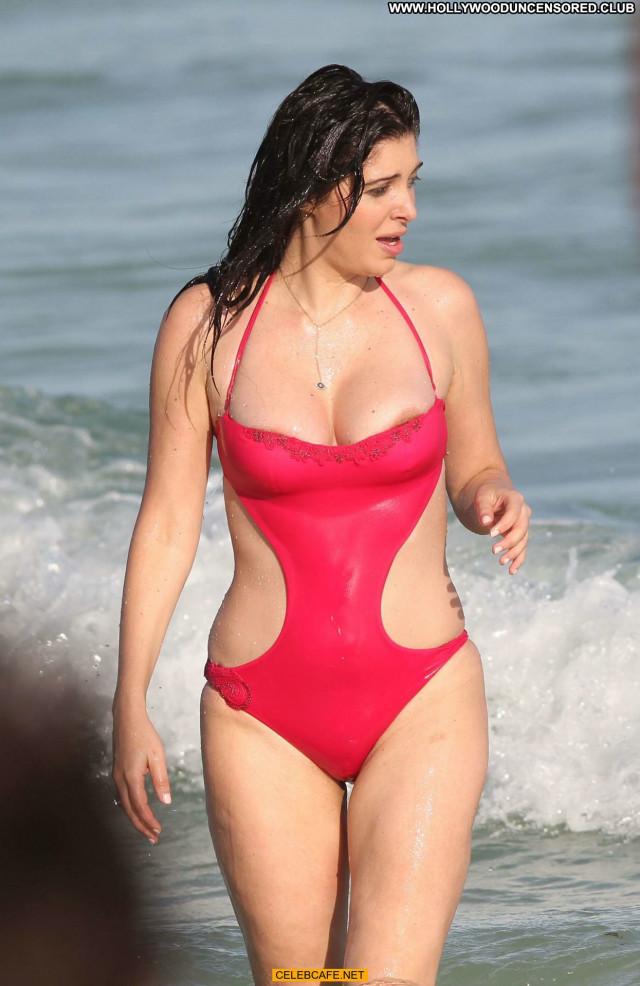 Brittny Gastineau Miami Beach Nipple Slip Beautiful Beach Swimsuit