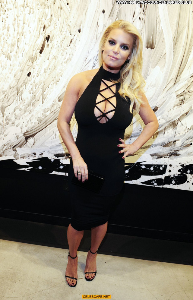 Jessica Simpson No Source Celebrity Babe Cleavage Posing Hot Beautiful