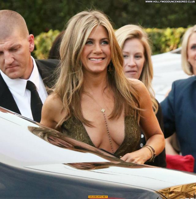 Jennifer Aniston No Source Beautiful Cleavage Posing Hot Celebrity