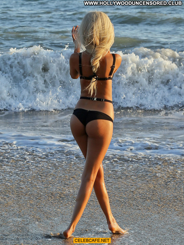 Zahia Dehar The Beach In Malibu Beach Cleavage Bikini Posing Hot