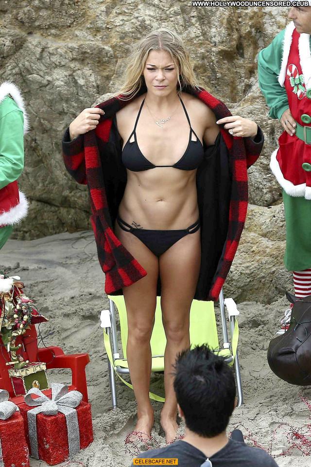 Leann Rimes Malibu Beach Mali Posing Hot Babe Bikini Malibu Beach