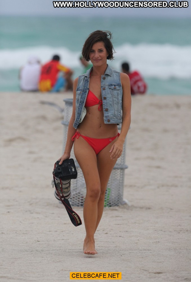 Logan Fazio Miami Beach Celebrity Beautiful Bikini Posing Hot Beach