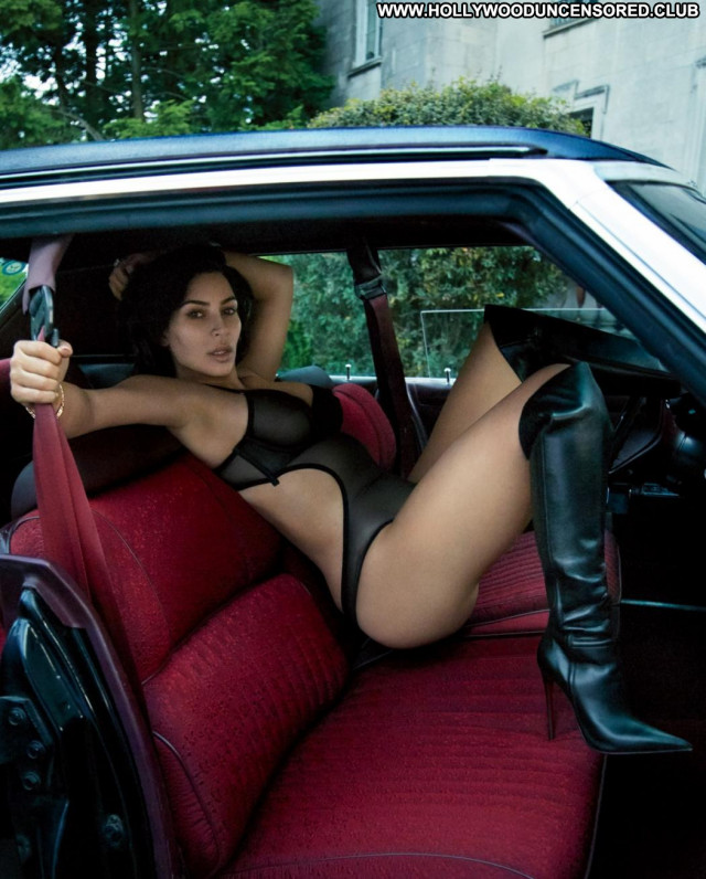 Kim Kardashian Photo Shoot Leather Posing Hot Celebrity Nude Photo