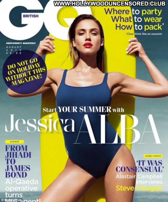 Jessica Alba Gq Magazine Celebrity Beautiful Posing Hot Magazine