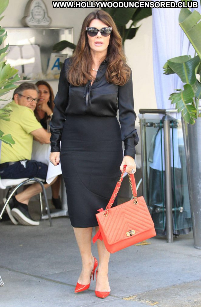 Lisa Vanderpump Beverly Hills Babe Beautiful Celebrity Black Posing