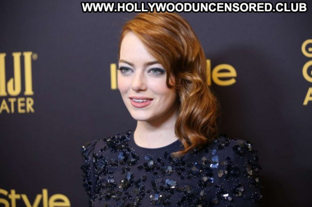 Emma Stone Golden Globe Awards Angel Sea Posing Hot Paparazzi