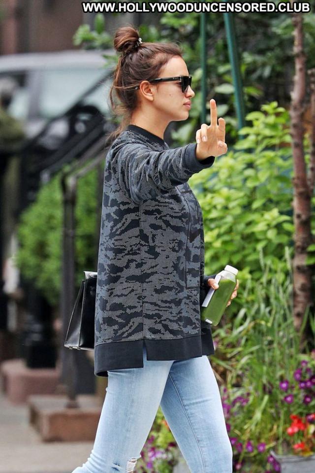 Irina Shayk New York Paparazzi Beautiful Posing Hot New York
