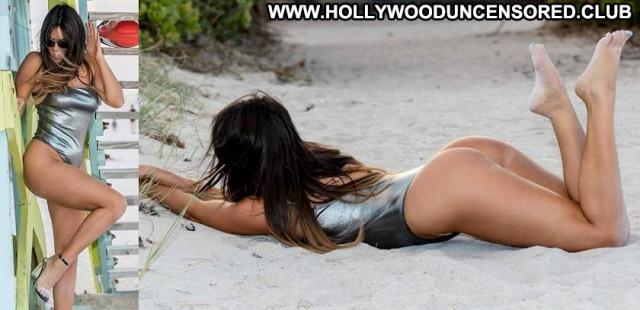 Claudia Romani The Celebrity Candids Model Bikini Posing Hot Candid