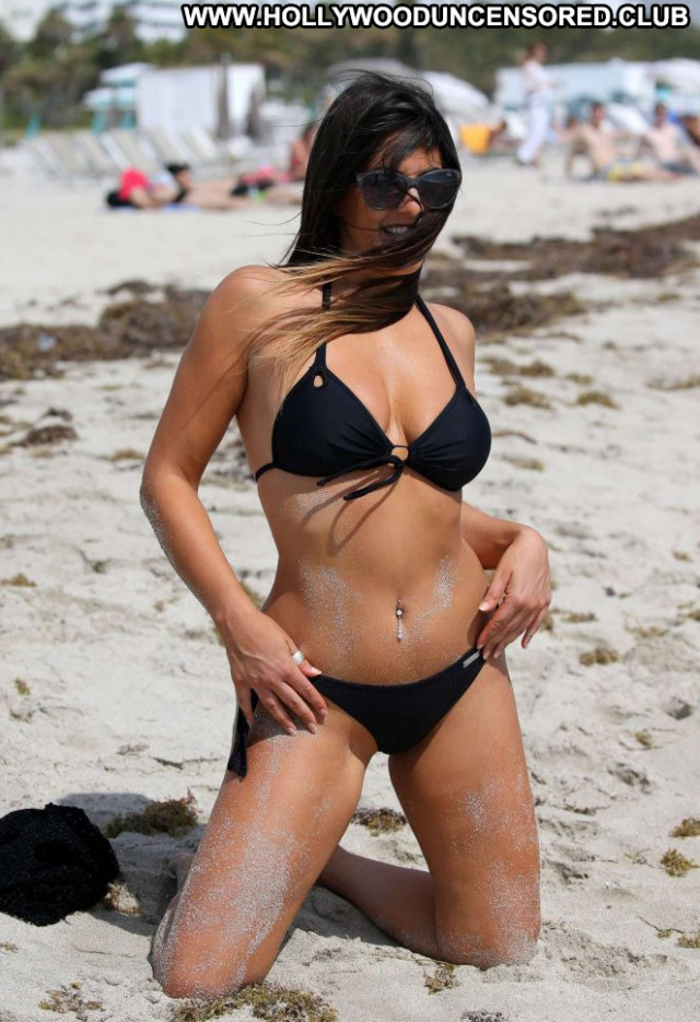 Claudia Romani Miami Beach Paparazzi Babe Black Celebrity Beautiful