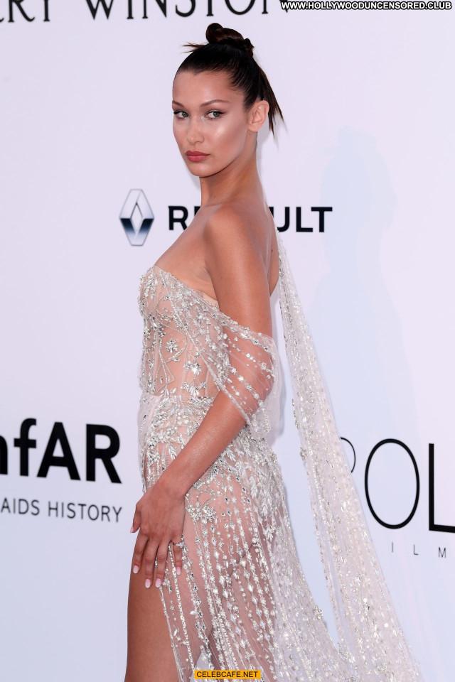 Bella Hadid Cannes Film Festival Posing Hot Babe Celebrity Beautiful