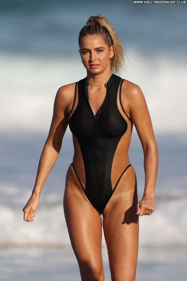 Natalie Jayne Roser No Source Office Model Winter Celebrity Swimsuit