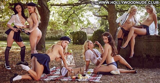 Scarlet Bouvier Red Carpet Playmate Blonde Model Posing Hot Usa