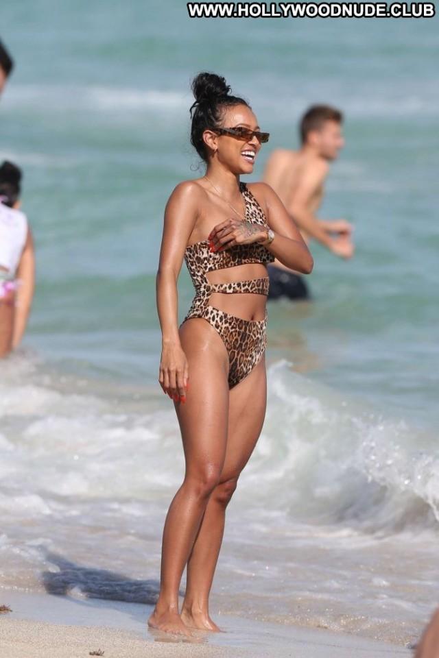 Karrueche Tran Miami Beach Swimsuit Celebrity Paparazzi Babe Posing