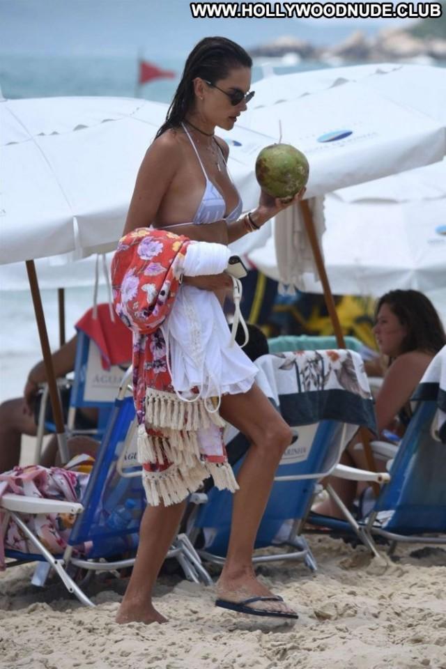 Alessandra Ambrosio The Beach Babe Beach Bikini Brazil Posing Hot