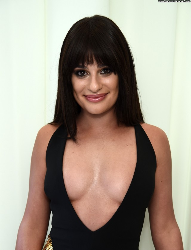 Lea Michele Los Angeles Beautiful Posing Hot Tits Celebrity Actress