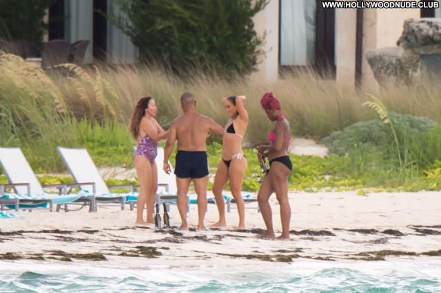Jennifer Lopez The Beach Swimsuit Singer Bahamas Hat Sexy Black