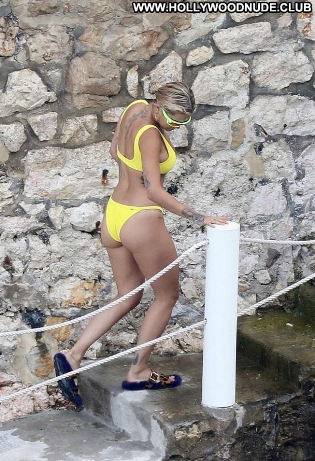 Rita Ora No Source  Paparazzi French Posing Hot Celebrity Babe Bikini
