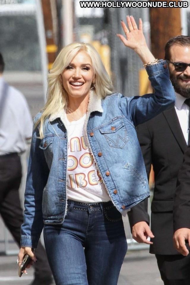 Gwen Stefani Jimmy Kimmel Live Paparazzi Babe Posing Hot Celebrity