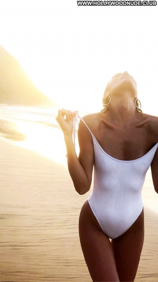 Candice Swanepoel The Beach Twitter Photoshoot Posing Hot Bra