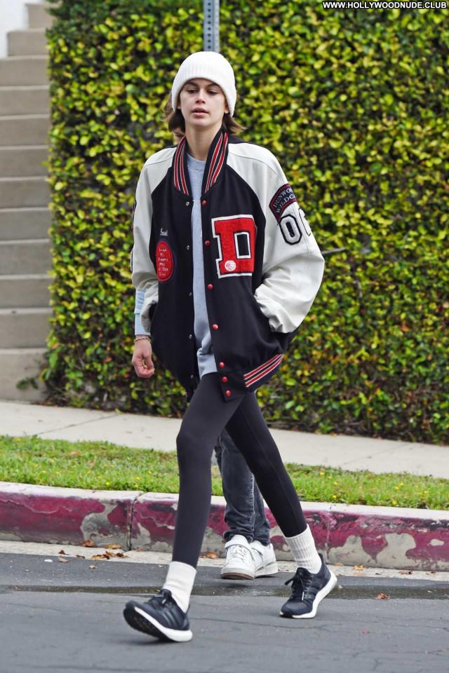Kaia Gerber Los Angeles Posing Hot Celebrity Babe Paparazzi Beautiful