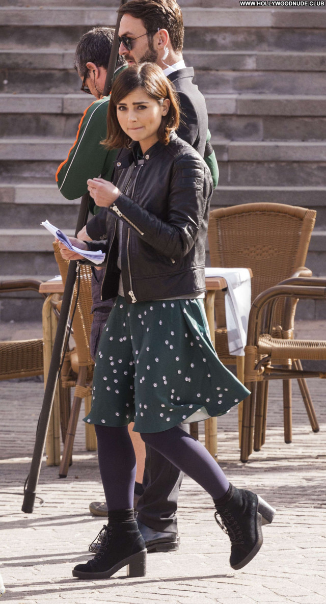 Jenna Louise Coleman Doctor Who Celebrity Paparazzi Beautiful Posing