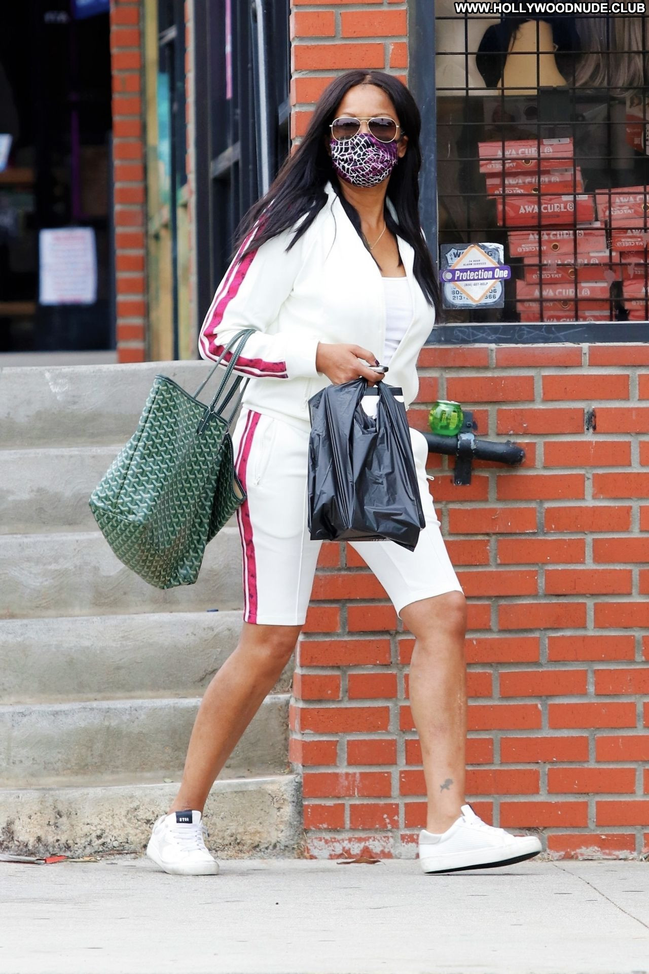 Get The Look: Garcelle Beauvais—Smoky Blue Eyes & Nude